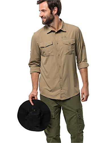 Jack Wolfskin Herren Atacama Roll-Up Shirt Hemd, Sand Dune, XXL