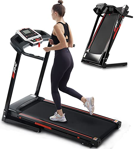FYC Folding Treadmills for Home - 2.5HP Portable Foldable with Incline, Electric Treadmill for Running Walking Jogging Exercise with 12 Preset Programs, Indoor Workout Training Space Save Apartment