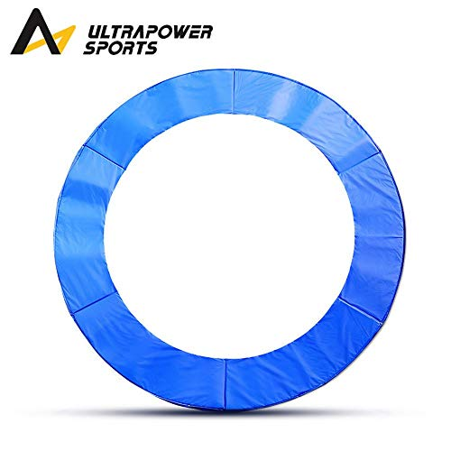 ULTRAPOWER SPORTS Federabdeckung Randschutz Randabdeckung für Trampolin 244cm, 300 bis 305cm, 360 bis 366cm, 395 bis 400cm, 425 bis 430cmcm mit 6/8 Stangen blau PVC - UV beständig (305cm - 8Stangen)