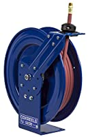 Coxreels P-LP-130 Low Pressure Spring Rewind Hose Reel: 1/4 I.D., 30' hose capacity, with hose, 300 PSI by Coxreels