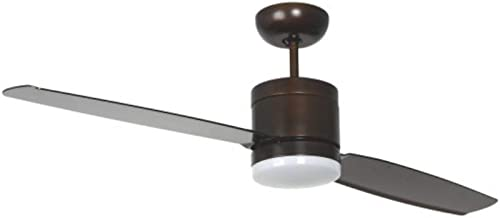 Pepeo Energiebesparende plafondventilator Turno met ledverlichting en afstandsbediening, brons, 132201307