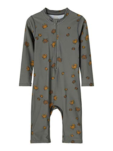 NAME IT Boy Badeanzug UV-Schutz 50+ 110Castor Gray