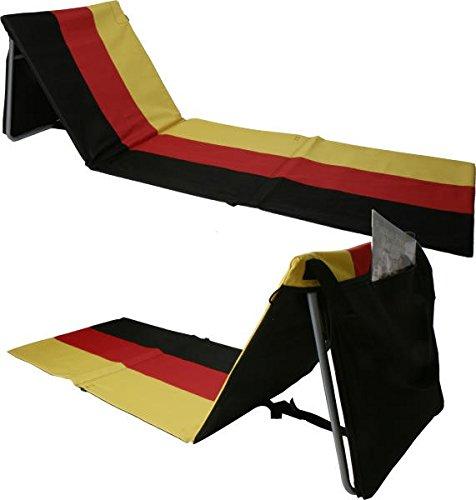 Tumbona de playa plegable con respaldo y funda, Alemania