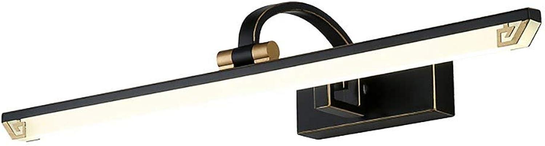 Home Experience-American Retro Spiegel Frontleuchte LED Warmwei Licht Kommode Make-up Beleuchtung Lampe Bad Wandspiegel Scheinwerfer (Gre  M  LED11w-53cm)