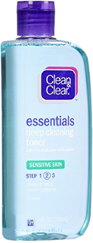 CLEAN & CLEAR Deep Cleaning Astringent Sensitive Skin 8 oz (5 Pack)
