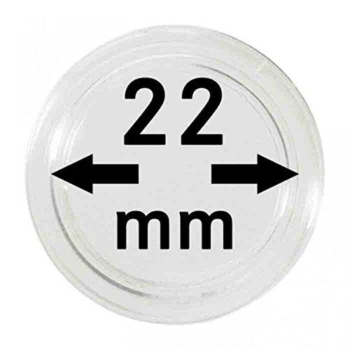 LINDNER Das Original Münzkapseln Innen-Ø 22 mm, 10er-Packung