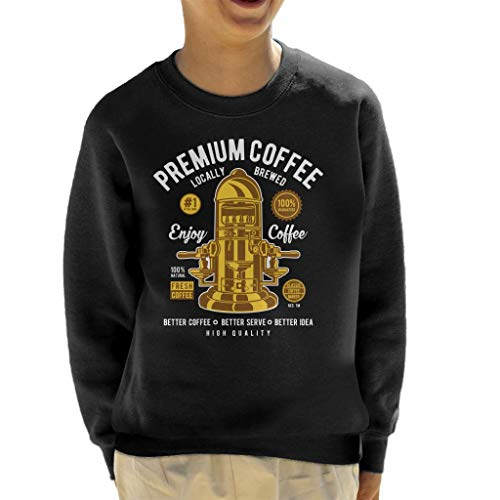 Cloud City 7 Premium Coffee Vintage Machine Kid's Sweatshirt