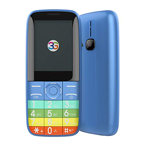 WEUN Teléfono Móvil, Mini Tarjeta Dual SIM Teléfono Móvil, Celular Bluetooth, Reproductor de música MP3/MP4, Calidad de Sonido Clara y Modo de Vibración