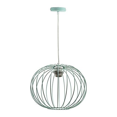 LUM&CO Lámpara de Suspensión E27, Verde Agua, 30 x 30 x 24