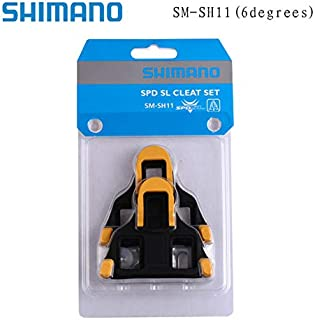 Taiguanxin-LYYX Genuine Shimano Cleats SPD SPD-SL Road Pedal Cleats Dura Ace,Ultegra SM-SH11 SH-10 SH-12 Bike Auto-Lock Plate Float Pedal Cleats (Yellow)