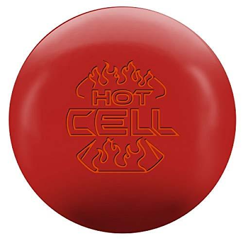 Roto Grip Hot Cell rote Urethane Oberfläche, Reaktiv Bowlingkugel für Einsteiger und Turnierspieler - inklusive 100ml EMAX Ball-Reiniger Größe 16 LBS