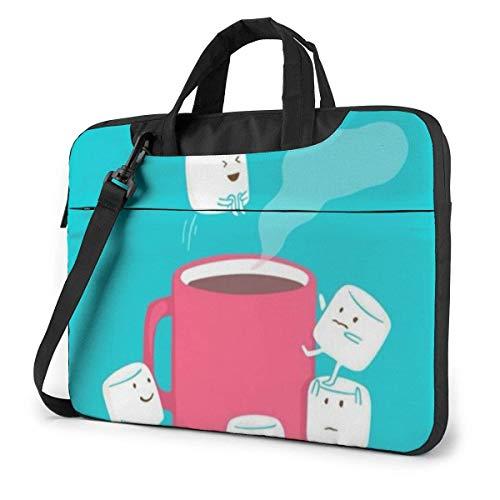 15.6″Kratzfeste Business-Aktentasche Notebook Süßer Kaffeezucker Tragbares PC Aufbewahrung Paket mit bequemen Schulterriemen