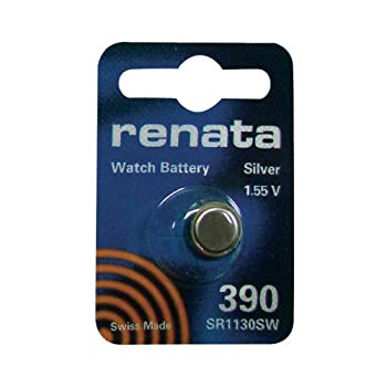 Renata 390 Silver Oxide 1.55V Watch Battery  Sr1130Sw