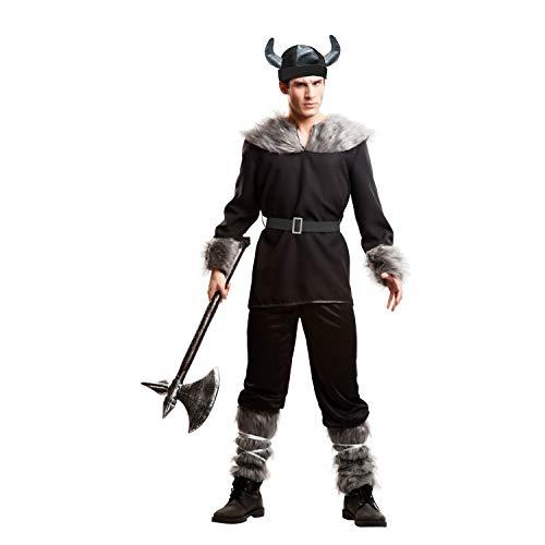My Other Me Viving Costumes Wikinger-Kostüm für Herren M-L Schwarz