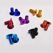 ZXCVB 10st M3 m4 m5 m6 * 8/10/12/15/20/25 kleurrijke aluminium vlakke zeskante schroef met verzonken kop (Color : DEEP BLU...