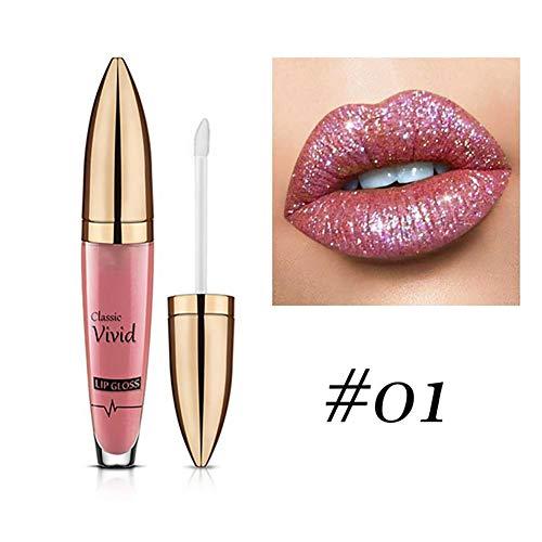 Hilai 1 STÜCK Schimmer Lippenstift Metallic Sparkly Lipgloss Frauen Langlebige Lippen Make-Up...