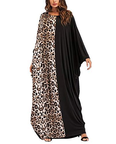 KRUIHAN Vestido Largo Casual para Mujer Abaya - Vestido de Cóctel Suelto...