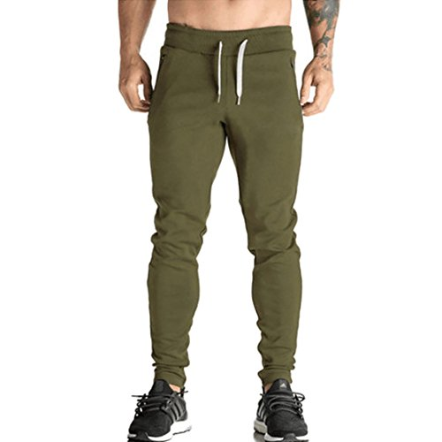 HDH Heren Mode Slim Fit Tapperd in Track pak Jogging Bottoms Training Broek