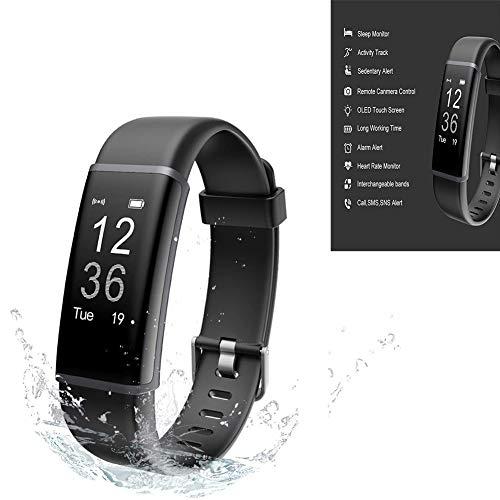 Fitness Trackers, Trackers Activity Salute Vigilanza di Esercitazione con frequenza cardiaca e Dormire Monitor con Calorie Counter Orologio per Uomini Donne