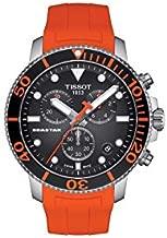 Tissot mens Seastar 660/1000 Stainless Steel Casual Watch Orange T1204171705101
