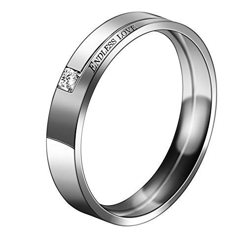 Partnerringe, Eheringe, Verlobungsringe, Titanstahl, endlose Liebe, Vintage Ringe für Sie und Ihn