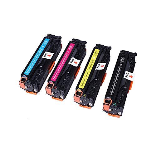 WSCA Reemplazo de Cartucho de tóner Compatible para HP 304A, Modelo Compatible CC530A CC531A CC532A CC533, impresión de 3500 páginas-Set