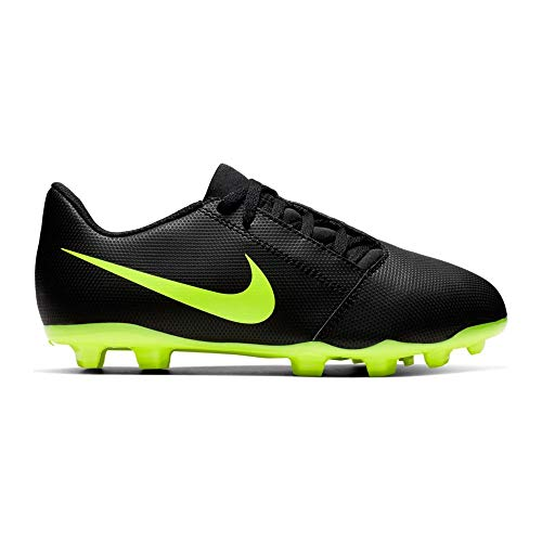 Nike Kids' Phantom Venom Club FG Soccer Cleats (6, Black/Green)