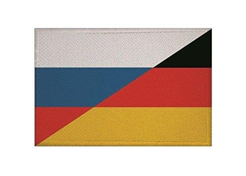 U24 Aufnäher Russland-Deutschland Fahne Flagge Aufbügler Patch 9 x 6 cm