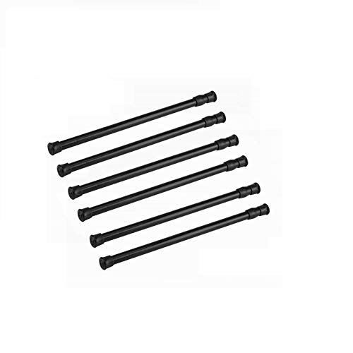 6 Pack Cupboard Bars Tension Rods 11.8-20 Inch
