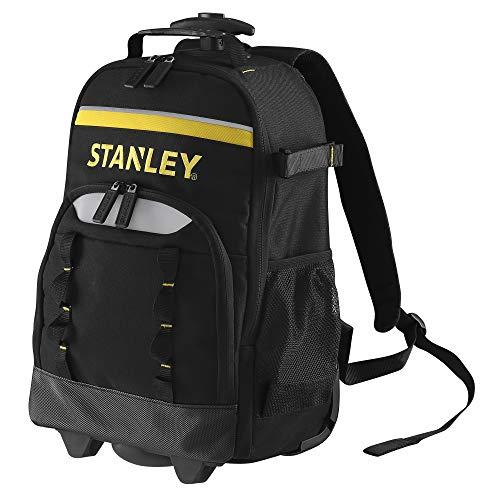 Stanley STST83307-1 Essential Rucksack mit Teleskopgriff und Rädern (15kg Ladefähigkeit, aus 600 Denier für hohe Reißfestigkeit, herausnehmbarer Organiser, mit Kunsstofffüßen), Mehrfarbig (Mehrfarbig)