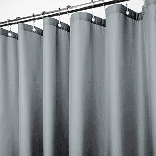 Shower Liner Curtain Vinyl with Metal Grommets Water and Rust Resistant Curtains (Grey)