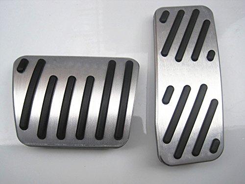 Por Cherokee Pedal del coche AT automatico Cubierta pedales acelerador freno Acero inoxidable Caucho No se oxida PPE Antideslizante 2 piezas