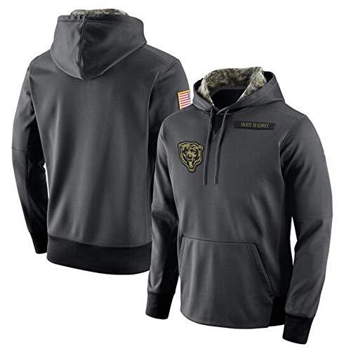 SHR-GCHAO Männer Kapuzen Langarm Hoodies - NFL Chicago Bears, Kapuzen Pulloverhoodies Lässig Und Bequem,XXL(180~190cm)