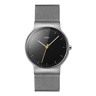 Braun Men's Quartz Watch with Black Dial Analogue Display and Silver Stainless Steel Bracelet (B00Y7U6KX0)   Amazon price tracker / tracking, Amazon price history charts, Amazon price watches, Amazon price drop alerts