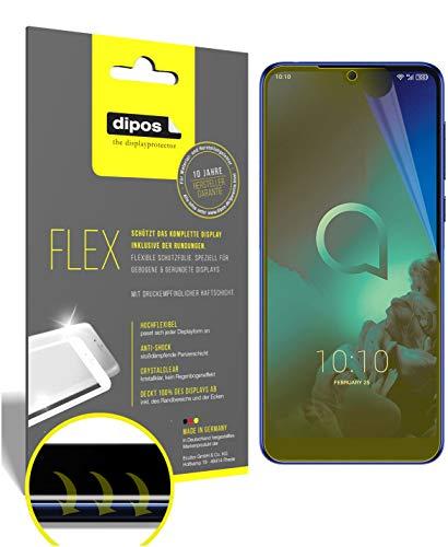 dipos I 3X Schutzfolie 100prozent passend für Alcatel 3 (2019) Folie I 3D Full Cover Bildschirmschutzfolie