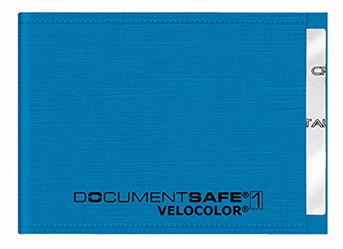 Veloflex 3271351 - Document Safe Kartenhülle, Kreditkartenhülle, RFID/NFC-Schutz, RFID-Blocker, 90 x 63 mm, blau, 1 Stück