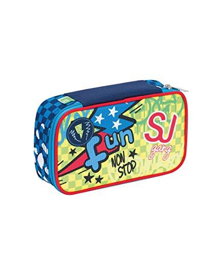 SEVEN S.P.A. ASTUCCIO scuola - SJ BOY - QUICK CASE - Blu - pennarelli matite gomma ecc.