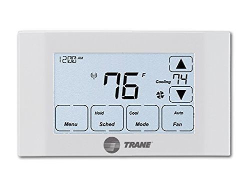 TRANE 14942771 Thermostat, Z-Wave, Works with Alexa White, 6.5 Inch