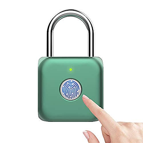 Candado con huella dactilar eLinkSmart Smart Locker Lock Cerradura sin llave con huella digital para armario de gimnasio, armario de escuela (verde)
