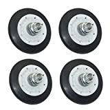 Siwdoy (Pack of 4) 4581EL2002C Dryer Drum Roller Assembly Compatible with LG Dryers Replace 4581EL2002A 4581EL2002B 4581EL2002D AP5688895 PS8260240
