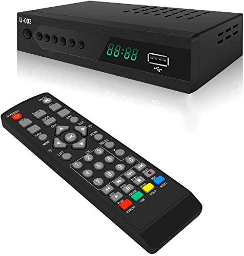 ATSC Digital TV Converter Box - UBISHENG U-003 Set Top Box for Analog HDTV 1080P TV Box with TV Tuner, Time Shift, EPG, PVR Recording/Playback, Media Player, HDMI, Timer Setting, QAM Tuner, Freeview