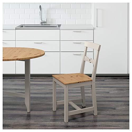 DiscountSeller GAMLEBY - Silla, color gris claro, 42 x 50 x 85 cm, resistente y fácil de cuidar, sillas de comedor, muebles ecológicos