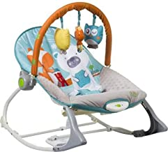 INFANTSO Baby Rocker & Bouncer (Blue) Foldable, Portable with Calming Vibrations & Musical Toy (Blue)