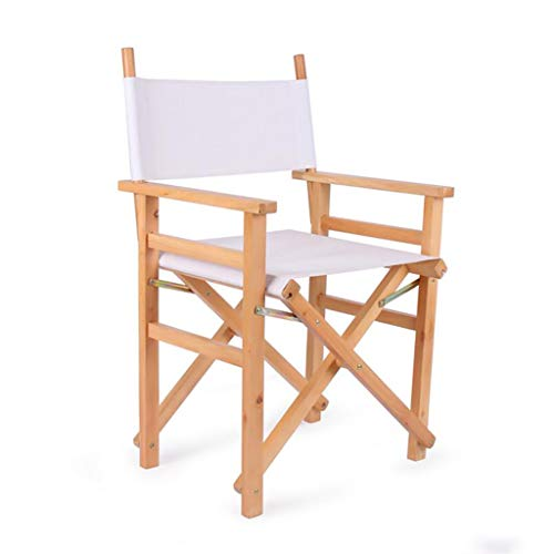 CYY Luggage Rack Kofferständer Massivholz Klappstuhl Regiestuhl Hoher Fuß Make-up Stuhl Tragbarer Stuhl Klappstuhl Aus Segeltuch (Color : A)