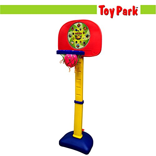 Toy Park Adjustable 5 ft Basketball Ring Stand with Dart Game for Kids