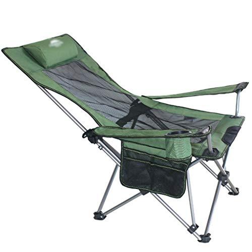 Sillas plegables De Playa, Ultra-Light Portable Modern Ocio Camping Silla De Pesca Al Aire Libre Almuerzo Almuerzo Silla, con Reposacabezas, Libre De Instalación.