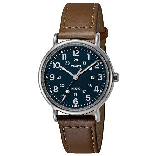Timex Men's Analog Quartz Watch with Leather Strap TW2R425009J