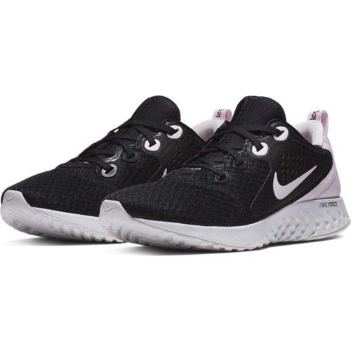 Nike Women's WMNS Legend React Track & Field Shoes, Multicolour (Black/Pink Foam/Vast Grey 007), 8.5 UK