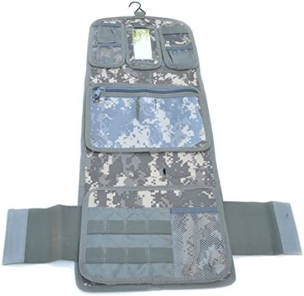 Military Molle Equipped Toiletry Bathroom Camping Travel Wash Kit Bag ACU product image