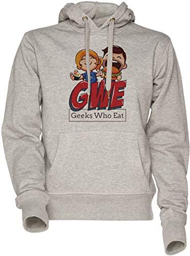 Geeks Who Eat - Food Unisexo Hombre Mujer Sudadera con Capucha Gris Mens Womens Hoodie Sweatshirt Grey